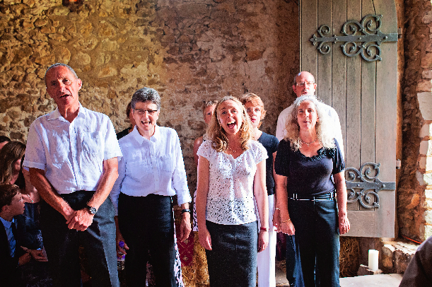 """I have been singing with the Horsebridge Singers for almost 6 years now. The group is very friendly and relaxed. Laura is very patient and conducts the lessons in a way that brings out the best in everyone. The songs performed cover a range of genres, so there is something for everyone to enjoy. On a more personal note I also had the choir sing at my wedding. During the planning stages Laura was always happy to meet with me and discuss the music we wanted, the choir even learned a song especially for us, having them there on the day made the service extra special and lots of people commented on how beautiful the harmonies sounded on the day. Thank you to Laura and the choir for helping to make our day so special!!!"""